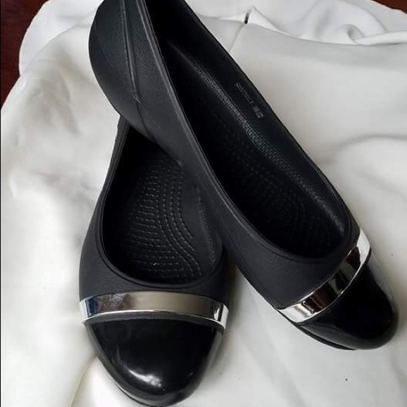 Miljard Fat samband  CROCS Shoes | Croc Flats Ballerina Patent Leather Cap Toe | Poshmark
